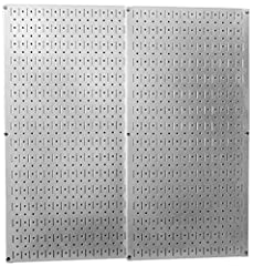 More than ten times stronger than conventional pegboard and 32in Tall x 16in Galvanized steel pegboard panels accept slotted, stable, and more secure hooks, pegs, brackets, and shelves Steel panel prevents the pegboard holes from fraying and wearing ...