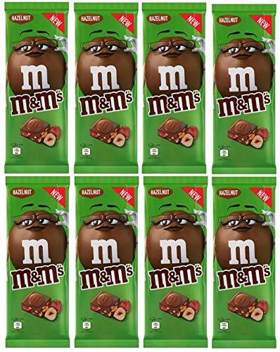 8 Tafeln M&M´s Tafelschokolade Hazelnut ( 8x 150g) Milchschokolade mit M&M´s minis
