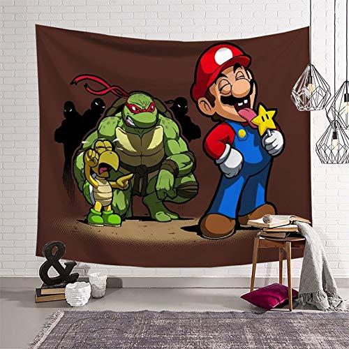 Dekorativer Wandteppich Super Mario für Wände, Deckendekorationen (130 x 150 cm)