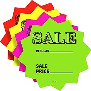 Price Cards Sale Price Die Cut Fluorescent Stars, 4