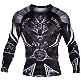 Venum Gladiator 3.0 Long Sleeve Rashguard - Black/White - M, Medium