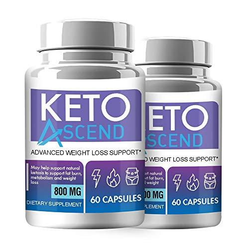 Keto Ascend Pills - Keto Ascend Diet Pills - Keto Ascend Advanced Weight Management Pills (120 Pills - 2 Month Supply)