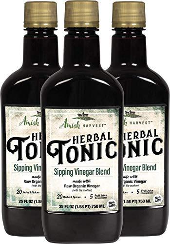 Yoder Naturals Herbal Tonic Herb Infused Apple Cider Vinegar Supplement.