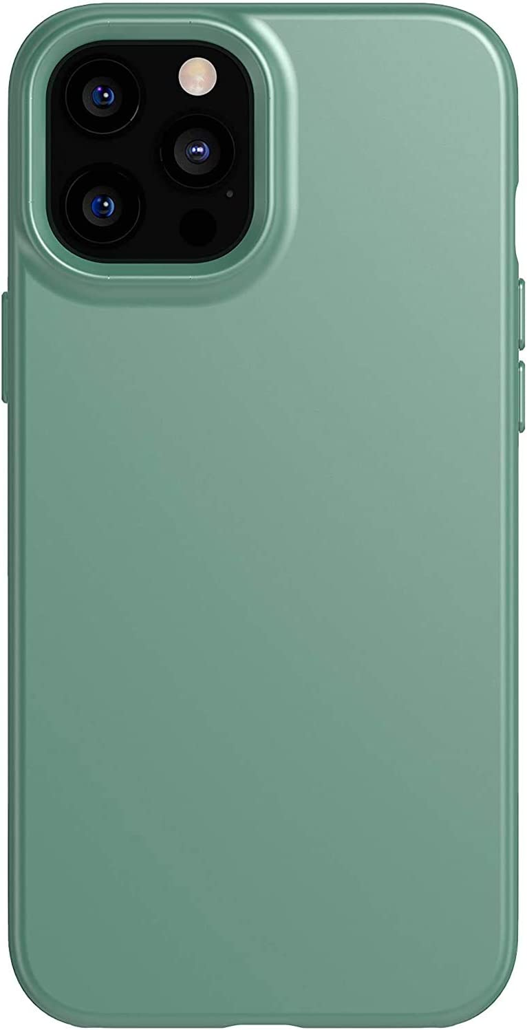 tech21 Evo Slim for Apple iPhone 12 Pro Max 5G - Germ Fighting Antimicrobial Phone Case with 8 ft. Drop Protection, Midnight Green