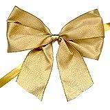 Sirene SRL Fiocco in Oro, Nastro Decorativo Natalizio in conf. da 50 pz (Dorato, 12)