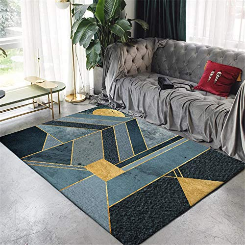 WQ-BBB Rugs Washable Carpet Stitching geometry with dividing line Modern Style Rugs black gray brown dosen't shed simplicity Room Carpets 160X230cm