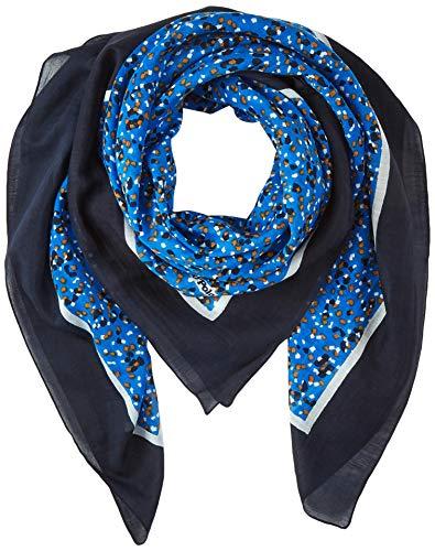 Marc O'Polo Damen 001811702141 Schal, Blau (Multi/ D38), One Size (Herstellergröße: OSO)