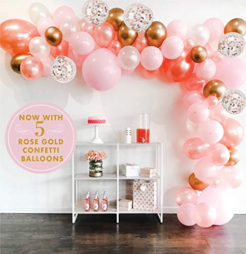 Float Party Co Balloon Arch and Garland Kit - 16ft Premium Balloons Rose Gold Chrome Gold and Macaron Blush Pink Extra Large Sizes | Bridal Shower, Baby Shower, Weddings, Birthday, Quinceanera, Anniversary
