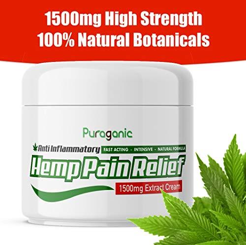 Crema de Cáñamo Anti-Dolor 1500 mg   Calidad Superior, Extracto Natural...