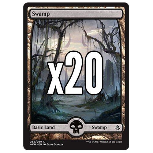 Cool Stuff Inc., LLC 20 Amonkhet Swamp #252 MTG Basic Full Art Land Lot