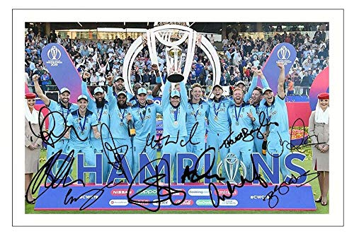 DW England 2019 Cricket World Cup Autograph Signed 6x4 Photo