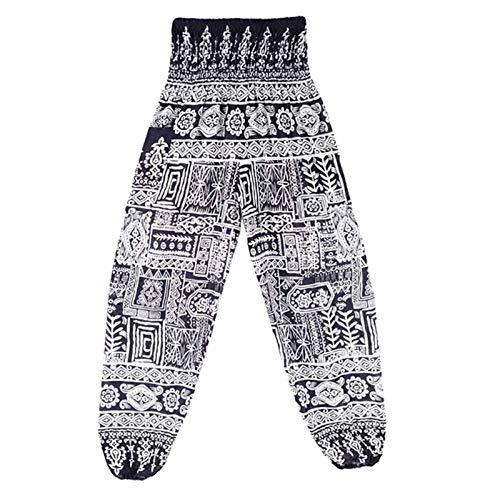 Pantalones de Yoga de Pierna Ancha para Mujer, Entrenamiento de Cintura Alta, cómodos Pantalones de salón, Pantalones de Yoga, Pantalones Harem tailandeses, Pantalones de Yoga Boho Festival Hippy