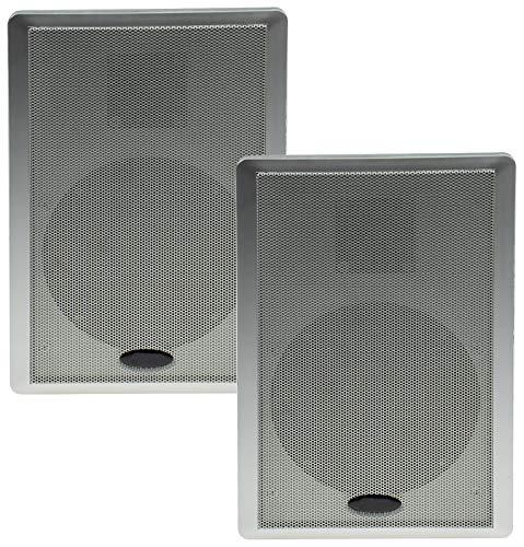 2-weg flatpanel-luidspreker Surround 40W 2 stuks/prijs per paar, zilver