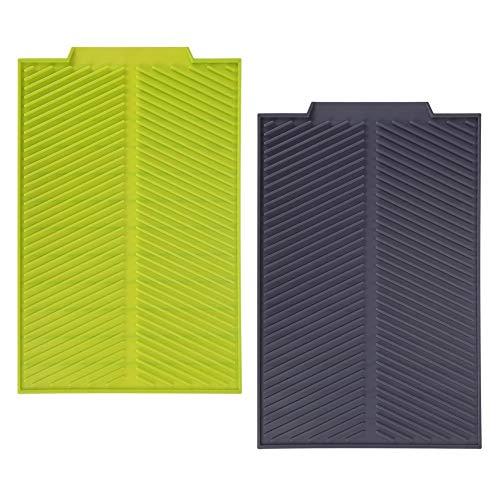 MAGT Mat Escurridor Universal, Rectángulo Silicona escurridor Estera de Fregadero de Cocina, Platos de Secado Heat Pad Bandeja Resistente a Prueba de Deslizamiento (Color : Gris)