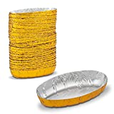 Gold Aluminium Foil Mashed or Baked Potato Shells or Holder Single- Serve Portions Oven and Freezer Friendly by MT Products ( 50 Pieces)