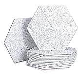 Sits Paneles acústicos hexagonales de 12 Piezas Paneles de Espuma a Prueba de Espuma de Estudio de Sonido Absorbente para Tratamiento acústico, baldosas de Borde Biselado