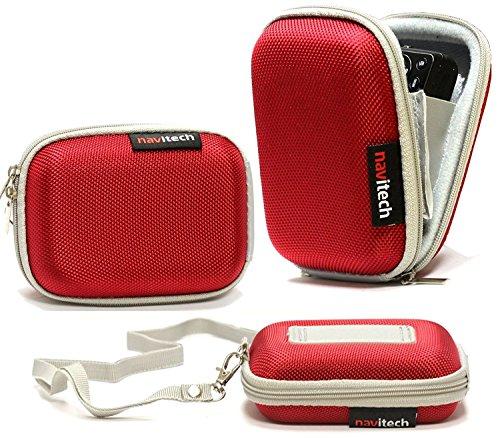 Navitech Rot Wasser Wiederständige Harte Digital Kamera Tasche für das Nikon CoolPix S3700 / CoolPix S2900 / CoolPix S6800 / CoolPix S6700 / CoolPix S5300 / CoolPix S2800
