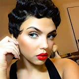 Best GENERIC African American Wigs - Short Black Wig Body Wave Hair Finger Wave Review