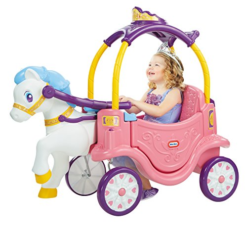 little tikes Princess Horse & Carriage Apertura por Empuje - Juguetes de...