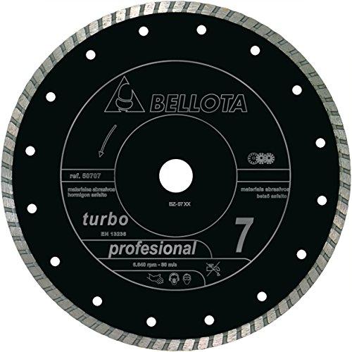 Bellota 50707-300 DISCO DIAMANTE CORTE SECO MATERIALES ABRASIVOS PROFESIONAL 7 TURBO 300MM, 300 mm