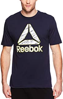 Reebok Men's Graphic Workout Tee - Short Sleeve Gym & Training Activewear T Shirt