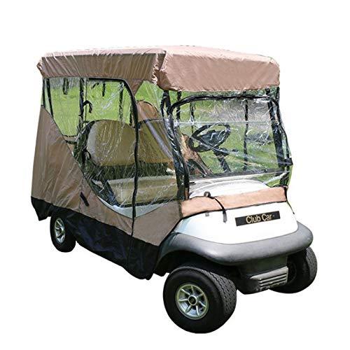 DWXN 4 Passagier Golf Cart Abdeckung mit Reißverschluss Fairway Travel 4 Sitz Clubs Car Abdeckung transparenten Windows-Sunproof Staubdichtes (79 L X 41 W X 57 H