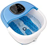 NURSAL Foot Spa Massager Basin Feet Soaking Tub Foot Salt Scrub with Heat 11 Mini Massaging Rollers and Bubbles Massage, Promotes Blood Circulation, Improves Metabolism, Stress Relief for Fatigue
