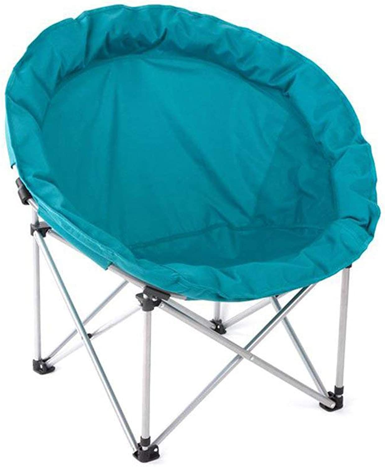 Zcxbhd Moon Chair Leisure Camping Bean Bag Chair- Holder Steel Frame Folding Padded Portable for with Festival Gift