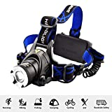 DRODRM High Power Headlamp LED Headlamps Hunting Headlight Bicycle Camping Head Torch Light