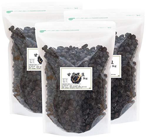 自然健康社 国産・甘露黒豆 1kg×3個 チャック付袋入り