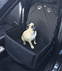 A handy 2 in 1 pet carrier and seat protector that easily attaches to car seat Super easy to clean and waterproof, suitable for small & medium pets The seat cover fits most cars and 4x4's including bucket seats & convertibles Features anti-slip backi...