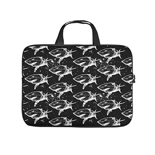 Shark Laptop Sleeve Case Protective Bag Neoprene Carry On Handle Case for Notebook/MacBook/Ultrabook/Chromebook White 12 Zoll