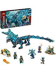 LEGO 71754 NINJAGO Water Dragon Toy, Ninja byggset för barn 9+ år med 5 minifigurer