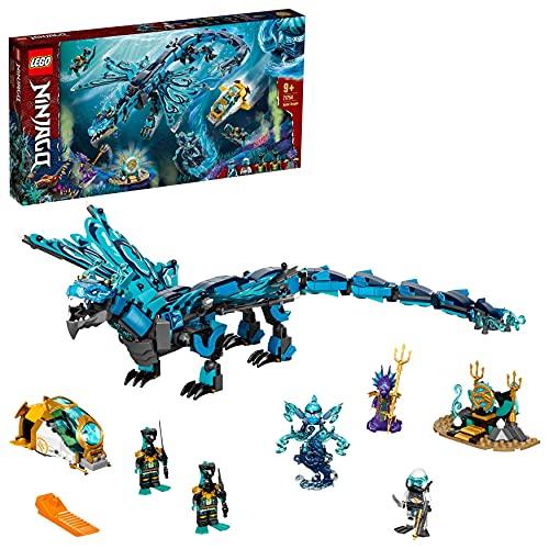 LEGO 71754 Ninjago Dragón de Agua, Juguete de Construcción de los Ninja con 5 Mini Figuras para Niños +9 Años