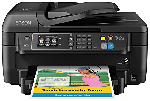 Epson WF-2760 All-in-One Wireless Color Printer with Scanner, Copier, Fax, Ethernet, Wi-Fi Direct & NFC, Amazon Dash Replenishment Ready