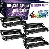 [4-Pack] 4Benefit Compatible Drum Unit Replacement for Brother DR420 DR-420 use in HL-2130, HL-2132, HL-2220, HL-2230, HL-2240, HL-2240D, HL-2242D, HL-2250DN, HL-2270DW, HL-2275DW, HL-2280DW