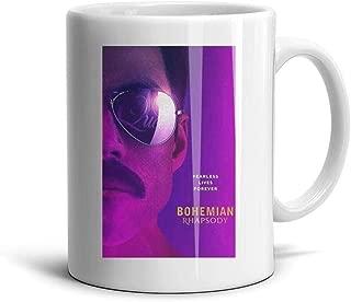 Ceramic Queen-Official-Bohemian-Rhapsody- Mug Vintage Coffee Cup Tea Office Porcelain Mugs White