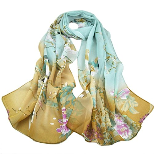 Gotd Fashion Women Long Leopard Shade Shawl Scarf Wrap Chiffon Scarves Gray