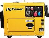 ITCPower NT-6100SE-3 Generador Diésel Trifásico Insonorizado, amarillo