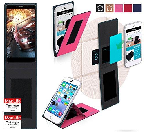 reboon Hülle für Bluboo Dual Tasche Cover Case Bumper | Pink | Testsieger
