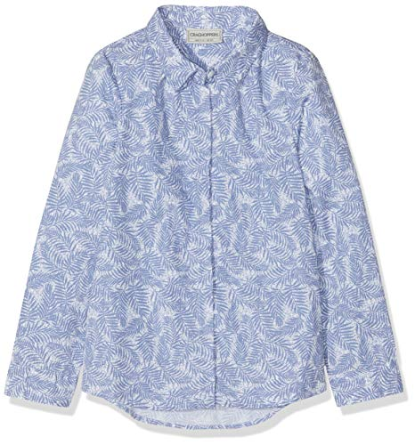 Craghoppers Fille Daintree Manches Longues pour Homme M China Blue Print