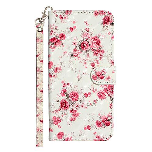 Rose-Otter Funda para teléfono móvil Samsung Galaxy A71 4G (2019), funda de piel con tapa y tarjetero, plegable, diseño 3D, rosa