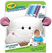 Doodlemals Hippodoodle The Hippo with 3 Washable Markers