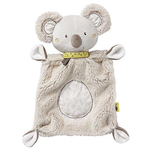 Fehn 064056 Schmusetuch Koala – Schnuffeltuch mit Koala-Köpfchen – Zum Kuscheln für Babys und Kleinkinder ab 0+ Monaten – Maße: 27 cm, Grau