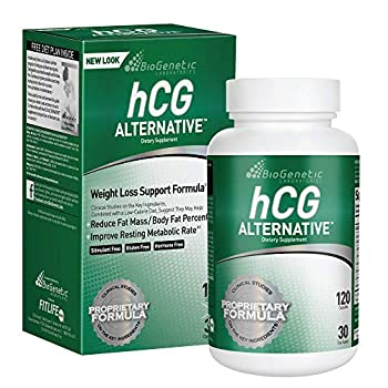 BioGenetic Laboratories hCG Weight Loss Pills and Fat Burner For Men and Women - Boosts Metabolism Supports Healthy Diets - Alternative Formula - 30 Day Supply  120 Capsules per Bottle