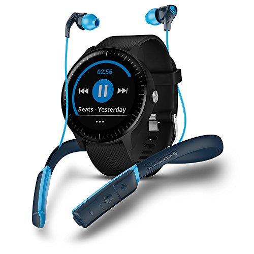 Garmin Vivoactive 3 Music Smartwatch GPS con Profili Sport, Sensore Cardio, Musica Integrata e Pagamento Contactless, Nero + Skullcandy Method Sport Cuffie Bluetooth
