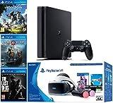 2019 Playstation 4 Slim PS4 1TB Console + Playstation VR Headset + Playstation Camera + Playstation VR Move Controllers + 5 Games Bundle