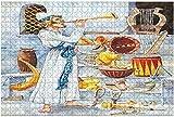 1000 piezas-Music Dream Series Dos violines y pintura colorida abstracta como un rompecabezas de madera DIY Niños Rompecabezas educativos Regalo de descompresión para adultos Juegos creativos Juguete