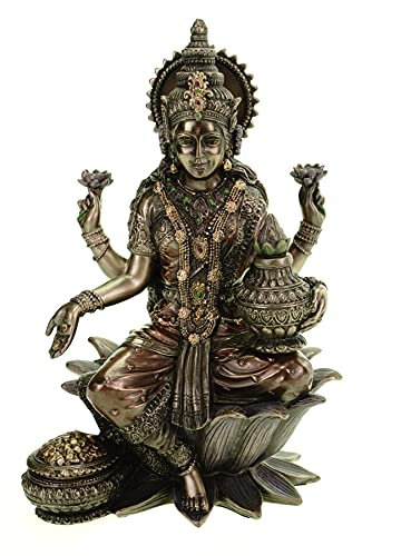 Veronese Statue Lakshmi Indian God of Good Luck of Wisdom and Wealth Hinduism Figure India