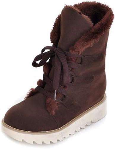 FMWLST Bottes Chaussures pour Femmes, Plus Chaussures De Chaudes, Chaussures Chaussures Plates, Chaussures d'hiver, Bottes De Neige  articles promotionnels